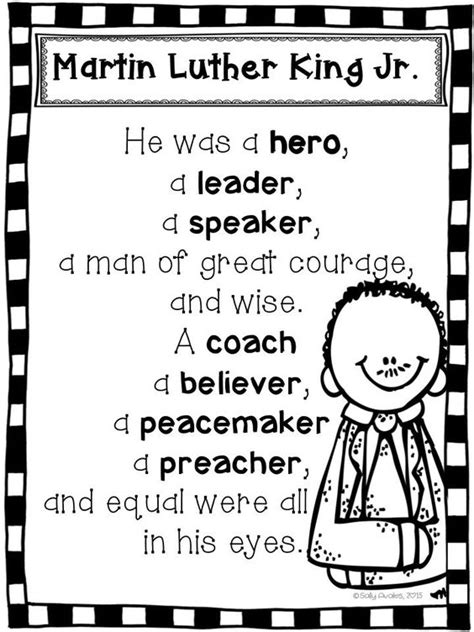 Martin Luther King Jr Essay Topics by Martin Luther King Jr Poem Freebie This Poem Is Included In My Mlk Jr Packet The 41 Page