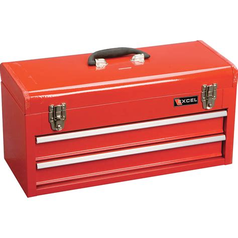 portable tool chest with drawers excel portable toolbox 2 drawers model tb132