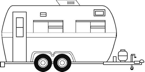 trailer template free coloring pictures of motorhomes screenfonds