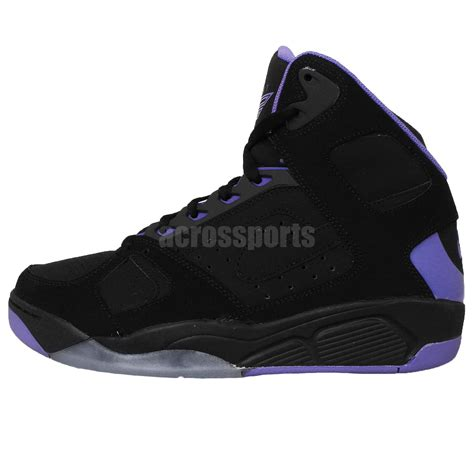 black and purple basketball shoes nike air flight lite high black purple 2015 retro