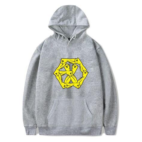 Winter Twist Hoodie Navy exo hoodie gray navy blue exo logo print winter warm cotton hoodies sweatshirts exo