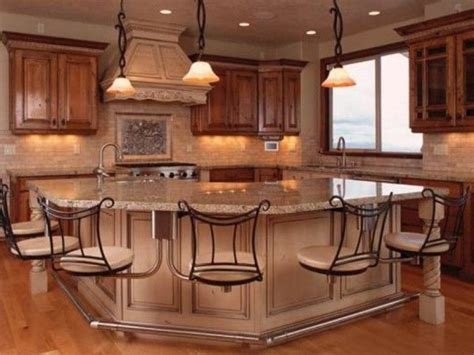 built in kitchen islands with seating 1000 images about kitchen islands with built in seating