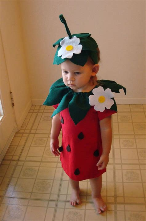 kids diy strawberry do it yourself kids costume halloween costume strawberry costume