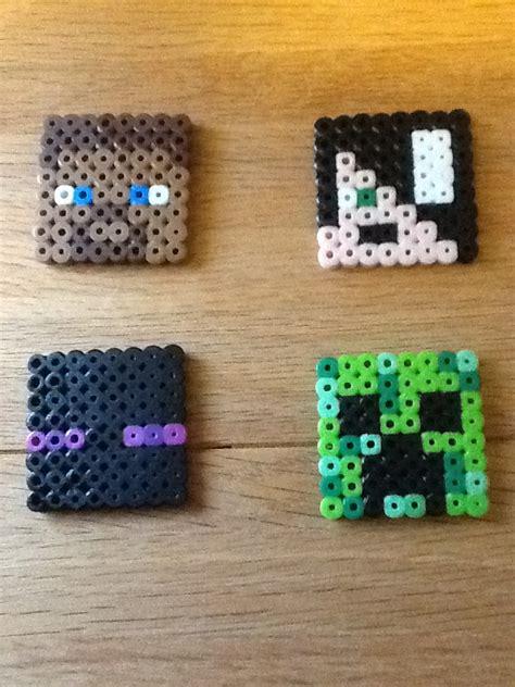 minecraft perler melted perler bead crafts minecraft