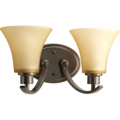 Bronze Vanity Light Fixture Progress Lighting Collection Antique Bronze 2 Light Vanity Fixture The Home Depot Canada