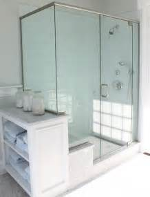 bathroom shower glass blue glass tile shower cottage bathroom molly frey