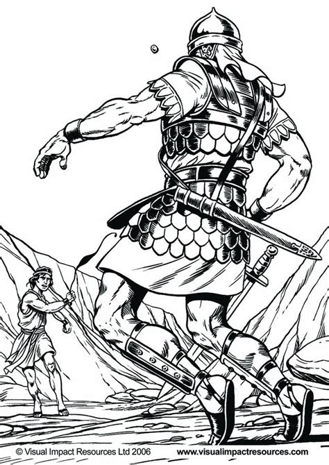 coloring pages for david and goliath david and goliath coloring page az coloring pages