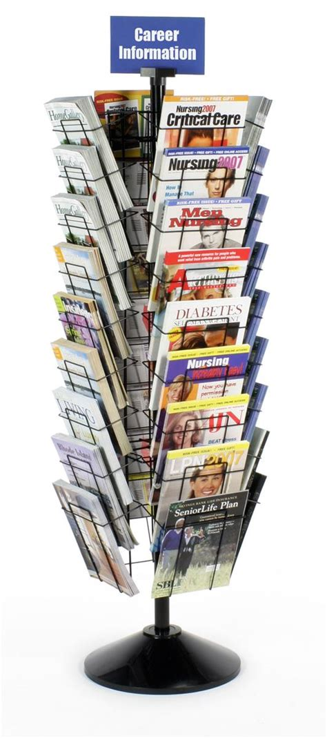Wire Magazine Racks For Sale by Floor Standing Magazine Rack Tiered Rotating Fixture