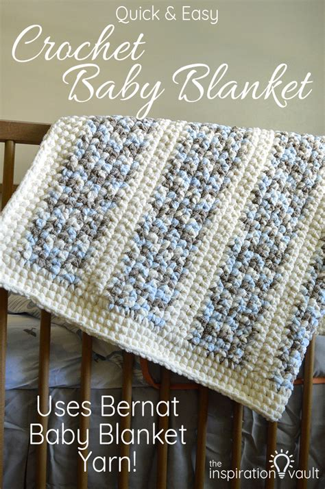 Best Yarn For A Baby Blanket by Easy Crochet Baby Blanket The Inspiration Vault