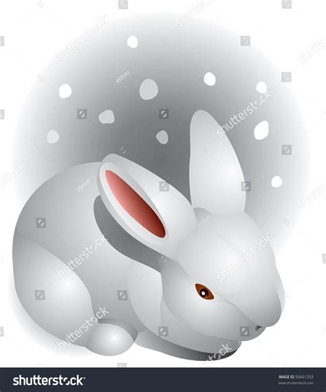 white rabbit new year bunny new year winter white rabbit the snow stock