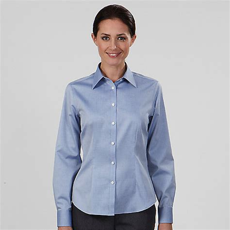 Womens Dress Shirts | women s ladies eagle dress shirts 13v0124 non iron 100