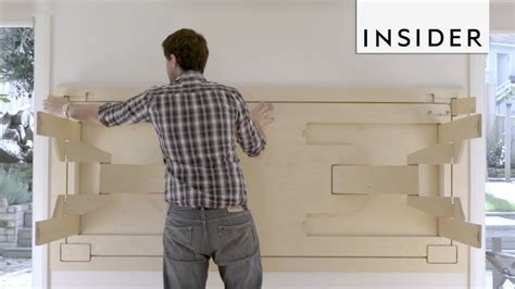 table folds  wall  save space youtube