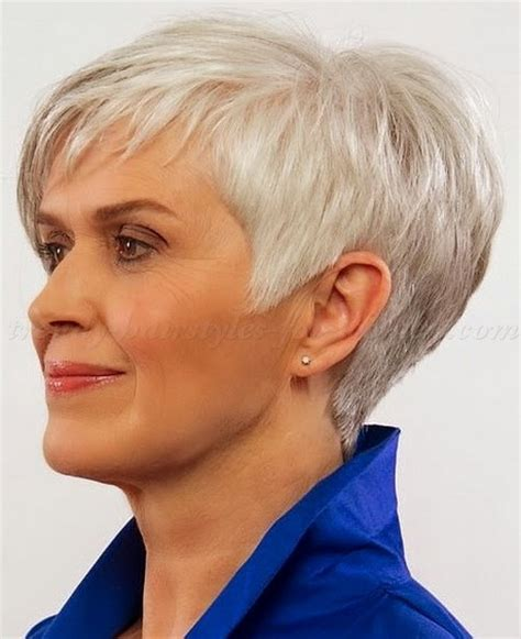 short grey hair for 40s women pinterest easy hairstyles for short hair over 50