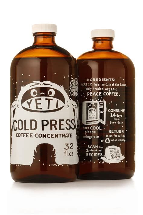 Label Detox Tea Coffee Beverages by Yeti Cold Brew Coffee Packaging Design