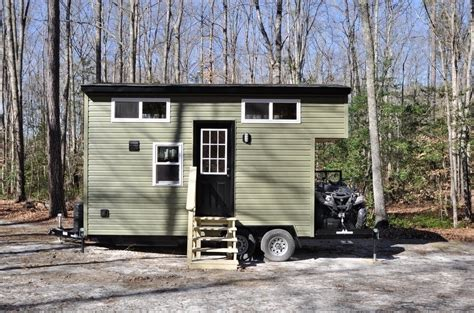 tiny houses for sale in virginia the 20ft timberland hunting tiny house w toy hauler for