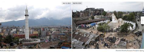 detiknews nepal penakan before after bangunan bersejarah di nepal yang