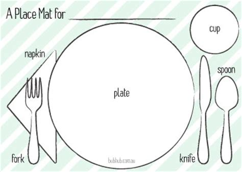 Kids Place Mat Guide Printable Bub Hub Free Photo Mat Templates