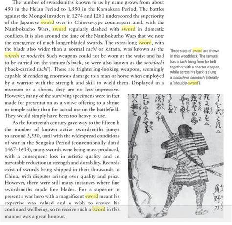 Classical Weaponry Of Japan odachi vs nodachi geishasblade
