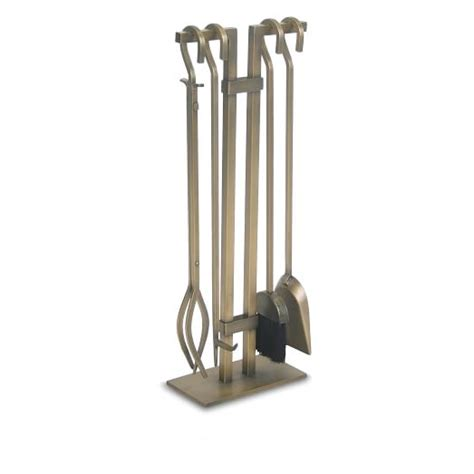 Fireplace Tool Set Sale by 4 Pc Burnished Brass Fireplace Tool Set West Elm