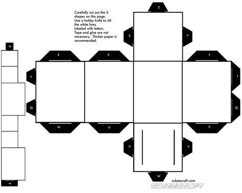 Blank Papercraft - blank rectangular cubee by shyguy20 on deviantart