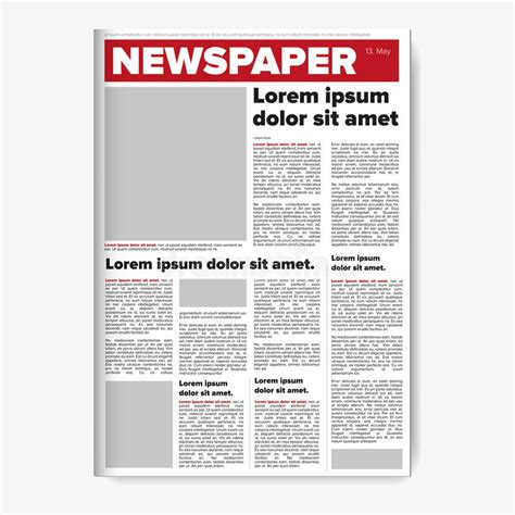 newspaper layout design software free download newspaper layout vector stock vector illustration of