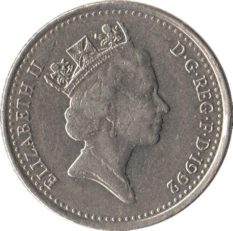 Koin Elizabeth Ll Dg Reg Fd 10 pence elizabeth ii 3rd portrait small type