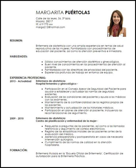 Modelo De Curriculum Actual En Word modelo curriculum vitae enfermera de obstetricia documentos curriculum