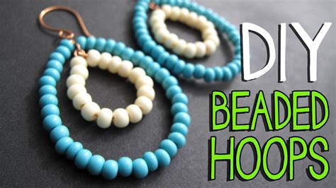 how to use beading wire diy beaded wire hoop earrings tutorial jewelry