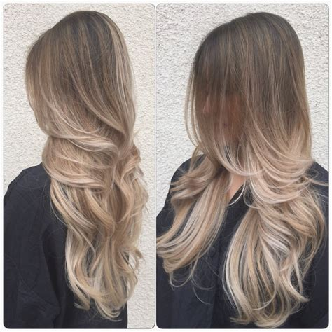 thank you kayla for this beautiful ash blonde ombr 233 so