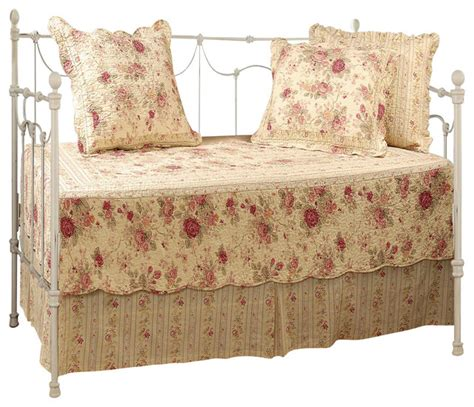 Greenland Home Antique Rose Daybed Set 5 Piece Daybed 5 Daybed Bedding Sets