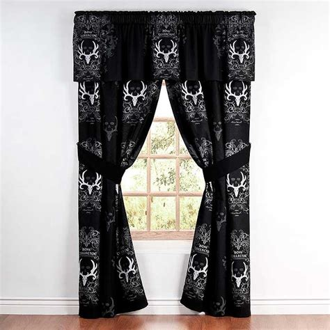 bone collector curtains bone collector black curtain panels blanket warehouse