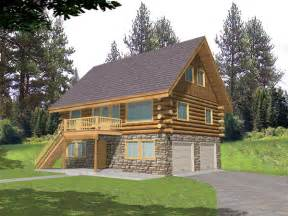 Cabin Garage Plans by Leverette Raised Log Cabin Home Plan 088d 0048 House
