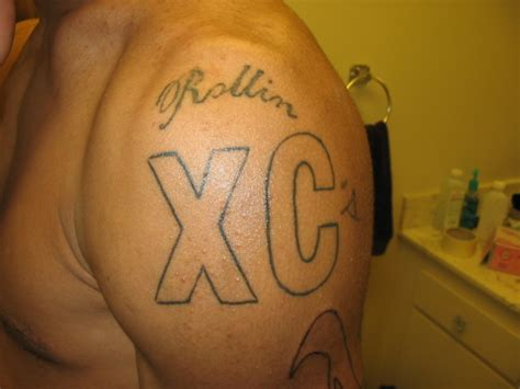 crips tattoos rollin xc s 90 s crip by mremo on deviantart