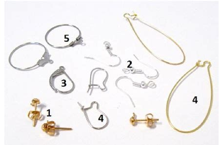 earring back types guide to different types of earring closures ebay