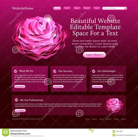 Editable Beautiful Website Template Stock Photo Image 19074200 Beautiful Templates