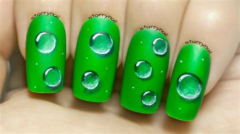 Freehand Nail Tutorials water droplets freehand nail tutorial