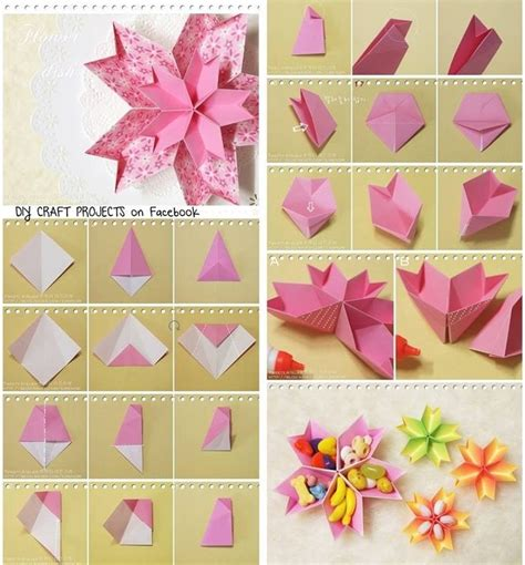 Papercraft Flower - diy paper flower dish diy tutorial papercraft diy
