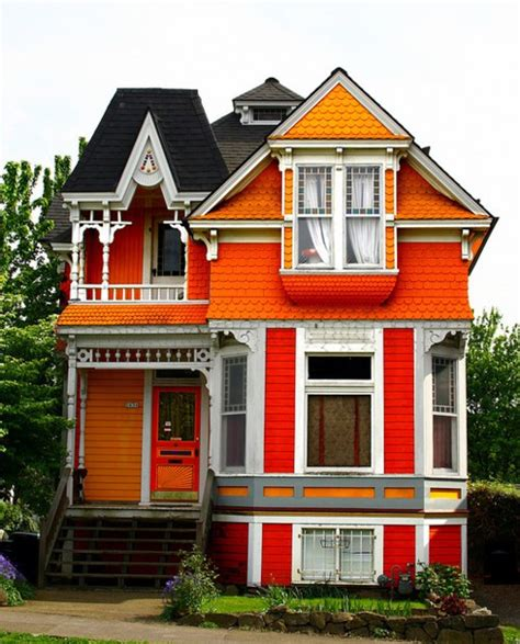 colorfu houses painting orange houses exterior house colors