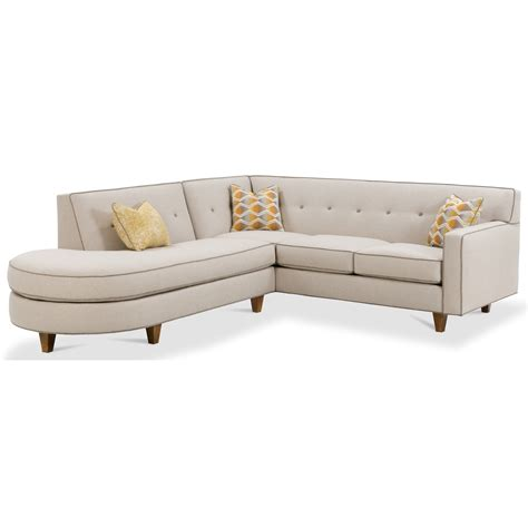 rowe sectional sofa rowe dorset contemporary 2 piece sectional sofa with