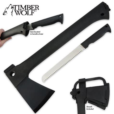 axe combo timber wolf elite knife axe combo with sheath budk