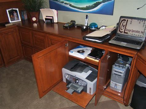 Home Office Cabinets And Desks Custom Home Office Furniture