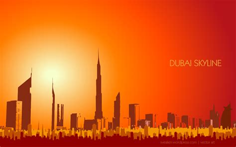 design house skyline yellow motif wallpaper dubai wallpaper creative graphic design in the middle of