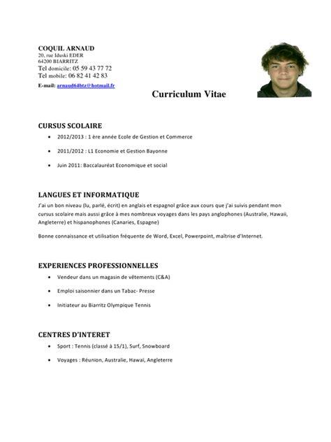 Télécharger Modèle De Lettre De Recommandation Resume Format Mod 232 Le Cv Travail Saisonnier