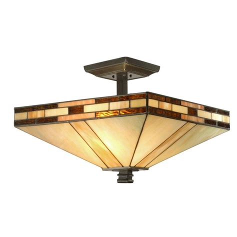 dale tiffany mission 2 light antique bronze semi flush