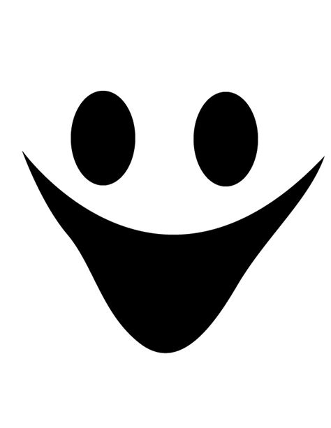 happy ghost face  printable coloring pages clipart