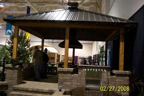 Tin Roof Outdoor Kitchens Metal Roof Pavilon Pergola Metal Roof Pergola
