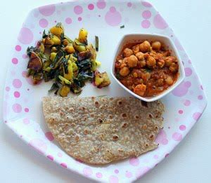 Garbanzobean 1 Kg meal series phukein chole chana masala and roti green