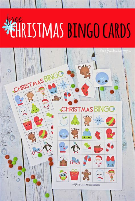 large group preschool christmas activities free bingo boards onecreativemommy