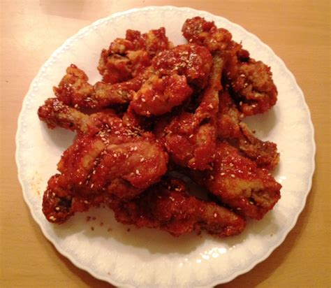 Letter Korean Chicken korean food photo korean fried chicken recipe yangnyeom tongdak maangchi