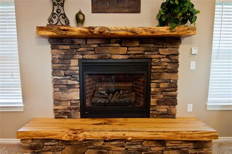 Fireplace Hearth Edging by Lived Edge Mantel And Hearth Rustic Living Room